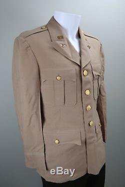Officier De La Seconde Guerre Mondiale Soldat En Uniforme Veston Usaf Été Us Army Air Force Corp