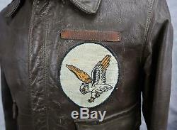 Officier Ww2 Armée Us Air Force Corp Veste En Cuir Bombardier Us Air Force A2 Groupe Nom 38