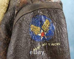Officier Ww2 Us Army Air Force Corp Veste En Cuir Bombardier Us Air Force D1 Dakota Queen