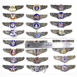 Ordre Américain, Médaille, Insigne, Armée, Armée De L'air, Marine, 25 Insignes, Ensemble Complet! Top Rare