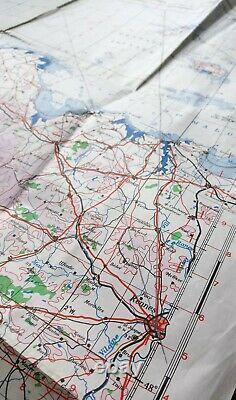 Original 1944 Cherbourg Normandie Carte D Day British Army Military Ww2 Ww2 Raf