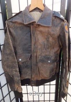 Original 8e Armée De L'air Seconde Guerre Mondiale 2 Armée De La Seconde Guerre Mondiale Squadron Bomber Flight Jacket