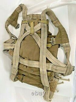 Original Ww2 Army Air Force An-6510 Seat Pack Parachute No Chute Voir Photos