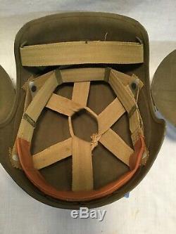 Original Ww2 U. S. Army Air Forces (aaf) M5 Flak Casque Avec Doublure, Excellent