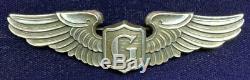 Original Ww2 Us Army Air Force Sterling Pilote De Planeur Wing 3 À Balfour Lgb Pb