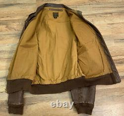Original Wwii Us Army Air Force A2 Leather Flight Jacket Poughkeepsie Liberandos