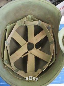 Originale Complète Seconde Guerre Mondiale Usaaf Bomber Crew M3 Acier Flak Casque Us Army Air Force