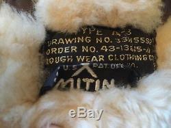 Pantalon De Vol En Cuir En Peau De Mouton A-3 De L'armée Américaine