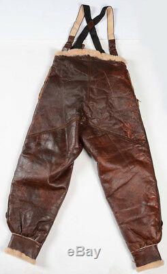 Pantalon En Cuir Us Army Army Air Force B-17 Gunner Bomber U. S. Army De La Seconde Guerre Mondiale