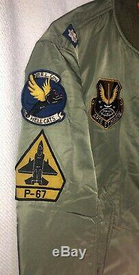 Polo Ralph Lauren Hommes Militaire Us Army Ma-1 Air Force Flight Jacket Bombardier Sz. L