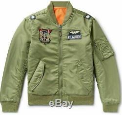 Polo Ralph Lauren Hommes Militaire Us Army Ma-1 Veste Pilote De Bombardier Vol