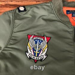 Polo Ralph Lauren Ma-1 Military Army Us Air Force Flight Bomber Jacket Homme 3xl