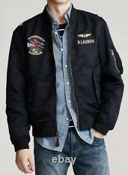Polo Ralph Lauren Ma-1 Military Army Us Air Force Flight Bomber Pilot Jacket M