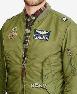 Ralph Lauren Polo Hommes Ma-1 Armée Militaire Us Air Force Bombardier Pilote De Vol