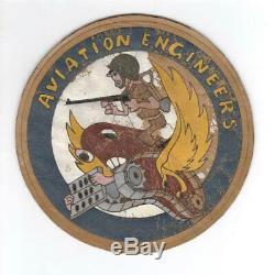 Rare 5-1 / 4 Ww 2 Patch En Cuir D'ingénieur D'aviation De L'armée De L'air Américaine Inv # L255