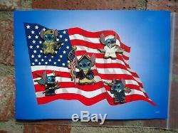 Rare Disneyland Disney Stitch Us Militaire Épinglette Marine Armée Marine Marine Air Force