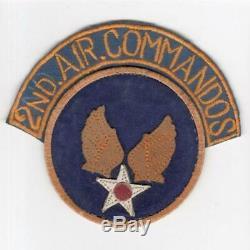 Rare Theatre Made Ww 2 Armée De L'air Des Etats-unis, 2e Commandos Air, Patch & Tab Inv # H744