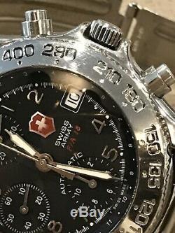 Rare! Victorinox Swiss Army Air Force Montre Officielle Fa-18 Auto Chronographe