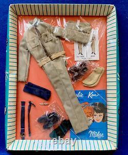 Rare Vintage Barbie 1962 Ken Doll Armée Et Force Aérienne #797 Nrfb