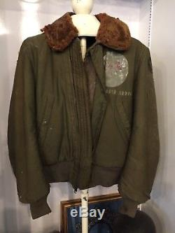 Rare Vtg 1940's Wwii B15 B-15 Army Air Force Jacket Oh Brother Rare! Comme Si