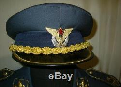 Rareyugoslavia Serbie Armée Communiste Robe Générale Parade Uniforme De La Force Aérienne Pleine
