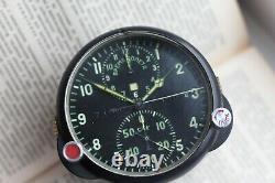 Regarder Aviation Achs-1 Soviétique Military Air Force Clock Ussr Vintage Soviétique