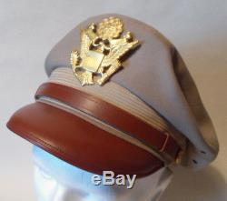 Repro Ww2 Crusher Cap Us Army Air Force Officier Tropical Worsted Kaki Taille 56