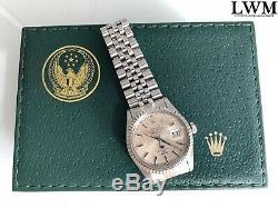 Rolex Par L'arabie 16030 Datejust Armée Air Force Palm Cadran 1982