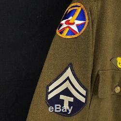 Seconde Guerre Mondiale 7ème Us Air Force Army Patch Pacific Technician Patch Uniforme En Laine 36r