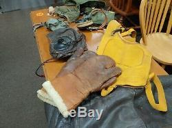 Seconde Guerre Mondiale Armée Air Force Flight Costume Calotte Casque Temps Froid A11 Mask A9