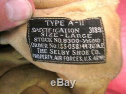 Seconde Guerre Mondiale Armée Us Air Force Aaf Type A-11 En Cuir Pilote Casque Volant Grand 1944 1