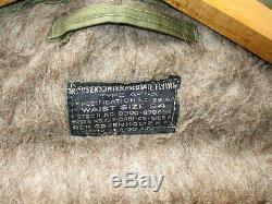 Seconde Guerre Mondiale Armée Us Air Force Pantalon Volant Type A11-a Taille Grande Intermédiaire 34