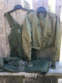 Seconde Guerre Mondiale Army, Air Forces Électrique Chauffée Combinaison De Vol Veste Et Pantalon De Type F-3a