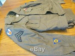 Seconde Guerre Mondiale Caporal Pilote Robe Veste En Laine Uniforme De L'armée Américaine 9 Air Corp Vigueur Us Air Force