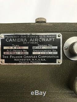 Seconde Guerre Mondiale D'origine Us Army Air Forces K21 Caméra D'avion Logement Et Moteur