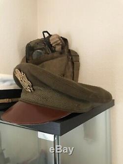 Seconde Guerre Mondiale D'origine Usaaf Us Army Air Forces Crusher Cap Bancroft