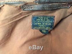 Seconde Guerre Mondiale Eastman A-2 A2 Aaf Veste Army Air Force Taille 40 Nice