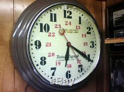 Seconde Guerre Mondiale: Horloge Murale Télégraphique De Hammond Postal, Armée De L'armée De L'air Américaine, 24 Heures Sur 24