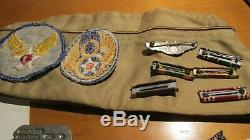 Seconde Guerre Mondiale L'armée Américaine 8th Air Force Dog Tag Sterling Ailes Gunner Uniform Patch Groupement