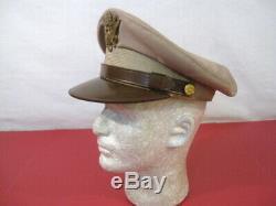 Seconde Guerre Mondiale L'armée Américaine Air Force Aaf Officier Crusher Casquette Ou Chapeau Taille 7 Nice Originale