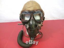 Seconde Guerre Mondiale L'armée Américaine Armée De L'air Aaf Type An-h-15 Casque Volant Filaire Withgoggles Et O2 Masque