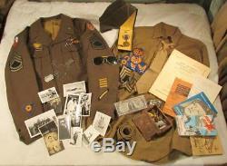 Seconde Guerre Mondiale Us 8ème Armée De L'air Force Uniforme Groupement Ike Veste Patch Ailes De Lingot
