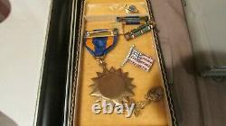 Seconde Guerre Mondiale Us Army 15th Air Force Pilot Uniform 97th Bomb Group Medal Unit History Wia