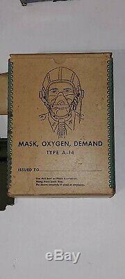 Seconde Guerre Mondiale Us Army Air Force De Aaf Type De Pilote A-14 Masque De La Demande D'oxygène Dans Boîte D'origine