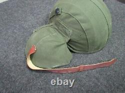 Seconde Guerre Mondiale Us Army Air Force M-4 Flack Helmet Pilot / Crew Nos 100% Orig Very Rare