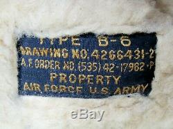 Seconde Guerre Mondiale Us Army Air Force Usaaf B-6 En Cuir Shearling Casque Flight