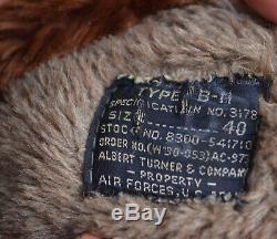 Seconde Guerre Mondiale Us Army Air Forces De Type B-11 Parka Taille 40 Imprimé Shoulderpatch Aaf Émis