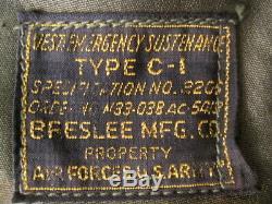 Seconde Guerre Mondiale Usaaf Armée Armée De L'air De Type C-1 Gilet D'urgence Subsistance Withholster Rare # 3