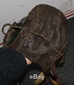 Selby Chaussures A-11 Petit Ww2 Us Army Air Force Flight Pilotes En Cuir Casque Volant