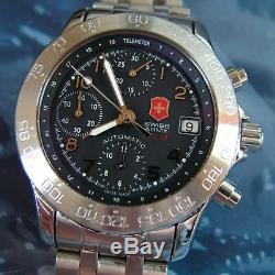 Super Rare Swiss Army F / A-18 Chronographe Automatique 7750 Valjoux + Xtras